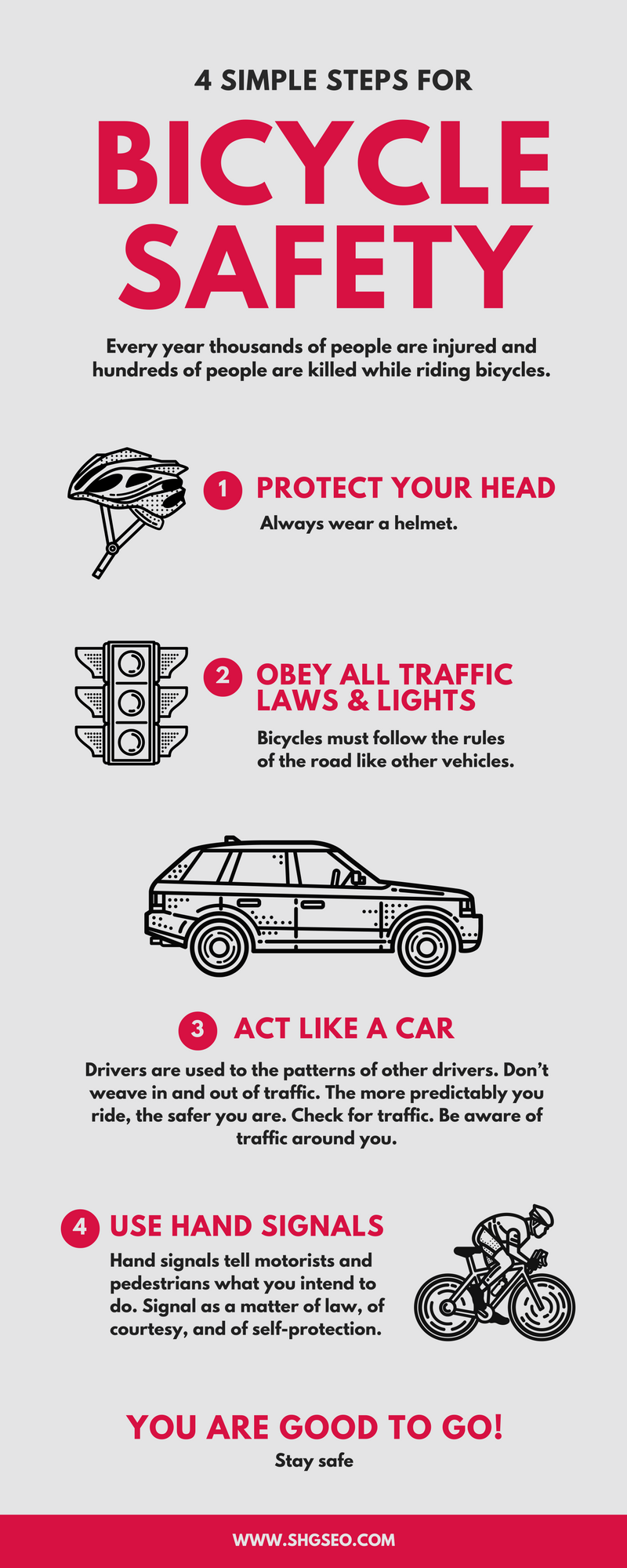 bicycle-safety infographics